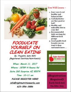 foodjecate yourself on clean eating workshop right nutrition works