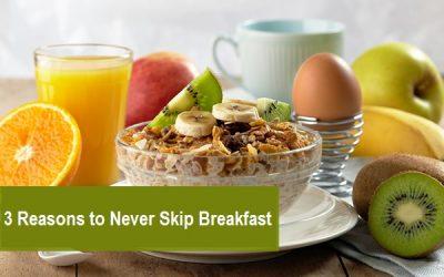 3 Reasons You Should Never Skip Breakfast